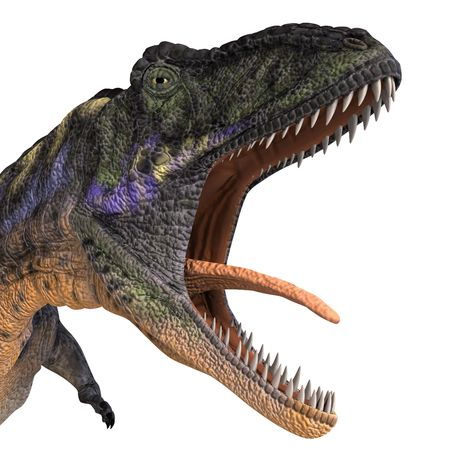 devour: Dinosaur Aucasaurus with clipping over white