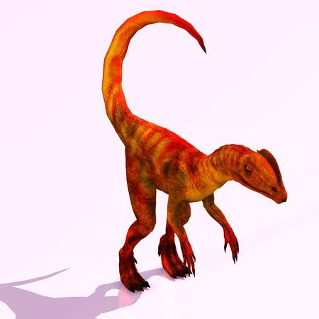 Rendered Image of a Dinosaur - with Clipping Imagens