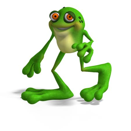 squib: Cartoon Frog with funny Face contains Clipping