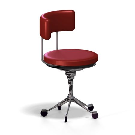 cushy: old fashioned office chair or from medical practise - with Clipping