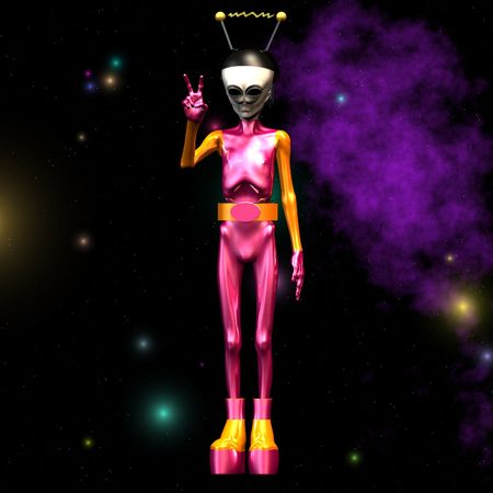 outerspace: Outerspace  Alien series Image contains a Clipping  Cutting for the main object