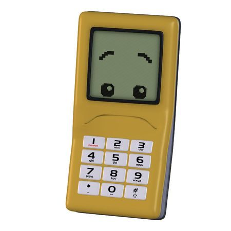 tinkle: A multicolored cell phone with arms and legs Image contains a Clipping Stock Photo