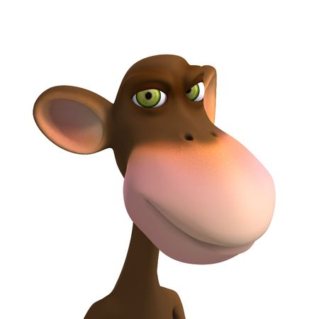 simian: Render of a funny Toon Monkey with Clipping