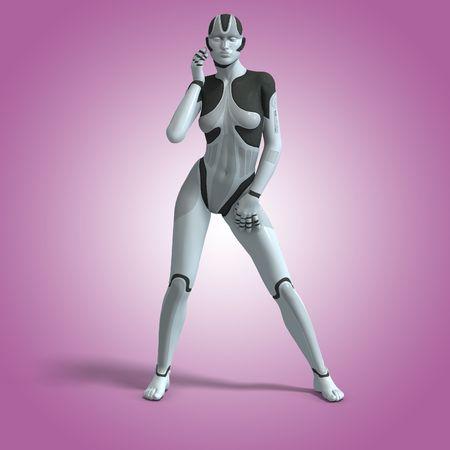 Android Femme sexy ou robot avec coupe