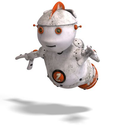 funny roboter with a lovely face and Clipping Stock Photo - 5006446