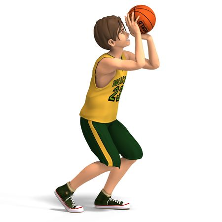 dinky: a very young toon character plays basketball With Clipping