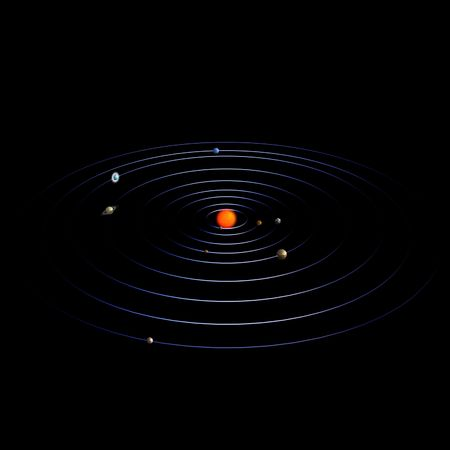 schematical image of the solar system. With Clipping Stock Photo - 5006702