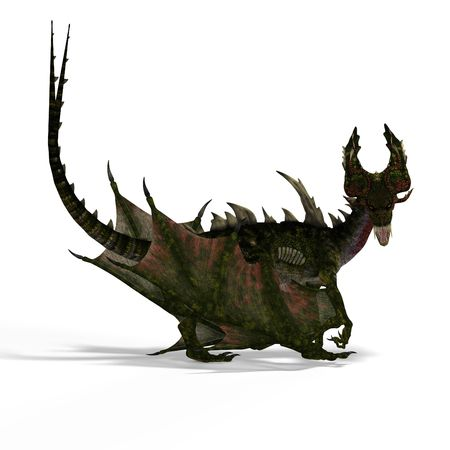 bluster: huge fantasy dragon with wings. With Clipping