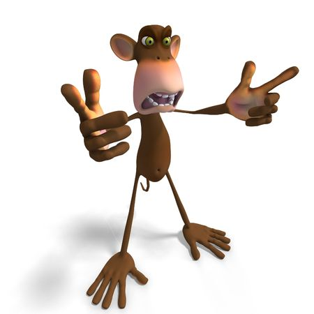 louse: Render of a funny Toon Monkey with Clipping