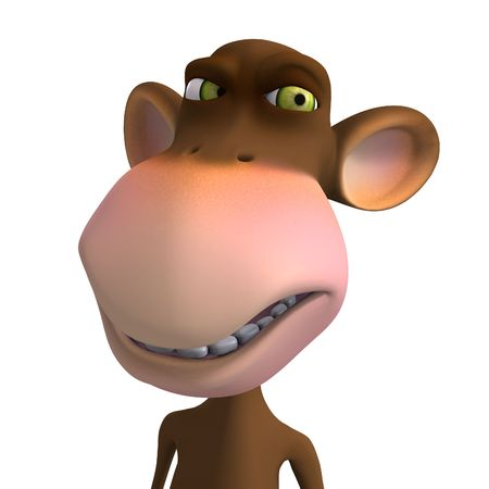 Render of a funny Toon Monkey with Clipping photo