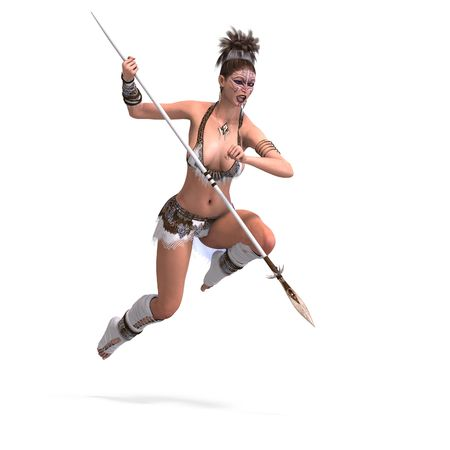 assail: brave sexy female fantasy barbarian with Clipping
