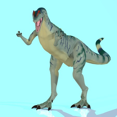 Rendered Image of a Dinosaur - with Clipping