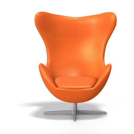 Charmant Funky Egg Chair From The 70s With Clipping Stock Photo   5006786