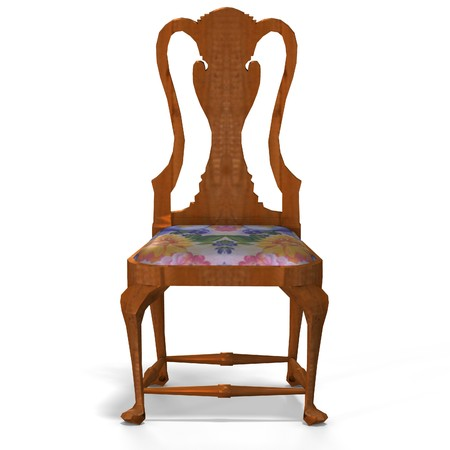 padding: traditional chair with padding (upholstery) contains Clipping