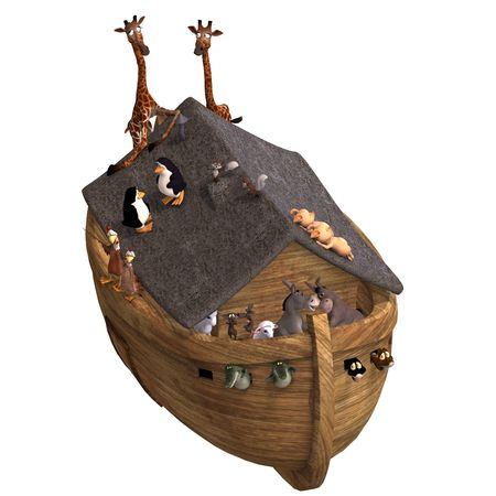 noahs: Noahs Ark with a handful of animals. With Clipping