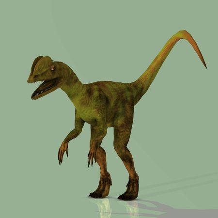 corrode: Rendered Image of a Dinosaur - with Clipping