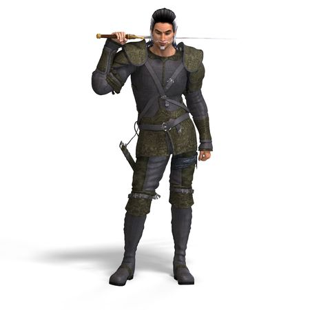 stealer: Fantasy Style Fighter with Sword. With Clipping