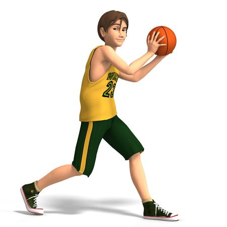 a very young toon character plays basketball With Clipping photo