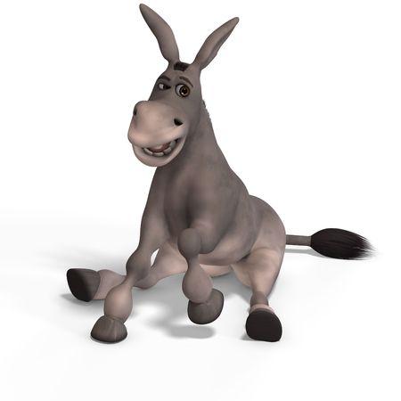 mula: Donkey Cartoon dulce con cara bonita m�s de Sendero blanco y el recorte