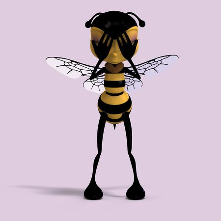 hid: very sweet render of a honey bee in yellow and black with Clipping