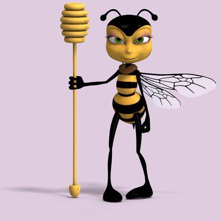 muy dulce hacen de una abeja en amarillo y negro con trazado de recorte Foto de archivo