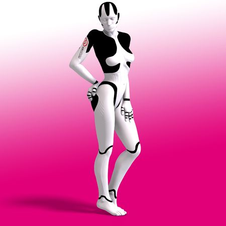 roboter: Sexy female android or robot With Clipping
