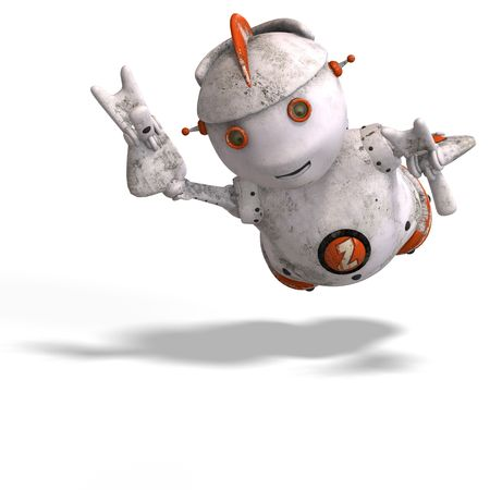 funny roboter with a lovely face and Clipping Stock Photo - 5006889