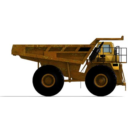 building lot: rendering of a heavy dumper over white