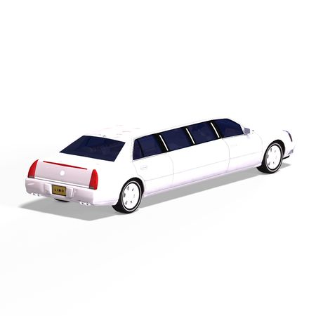 limo: huge limo with black windows with Clipping Stock Photo
