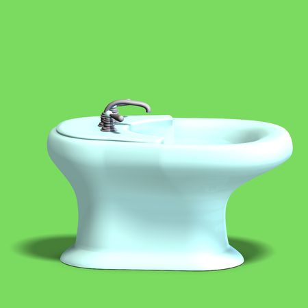 3d rendering of a white bidet with Clipping and shadow