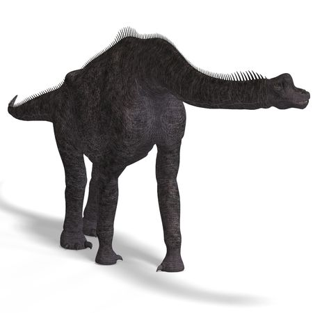 tucker: giant dinosaur brachiosaurus With Clipping over white