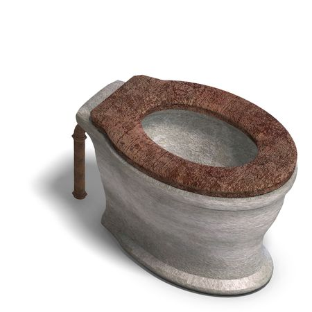 3D rendering of a smut wc with Clipping and shadow over white Stock fotó
