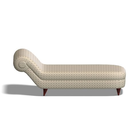 cushy: a modern cushy seat. 3D render with clipping and shadow over white