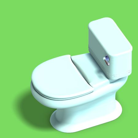 privy: 3D rendering of a white wc with shadow and clipping over white Stock Photo