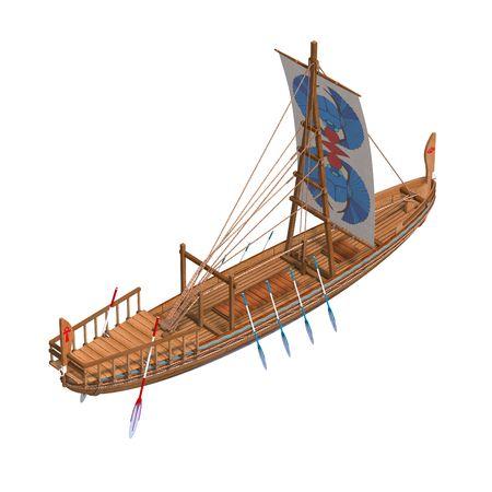 rowboat: Egyptian Boat.