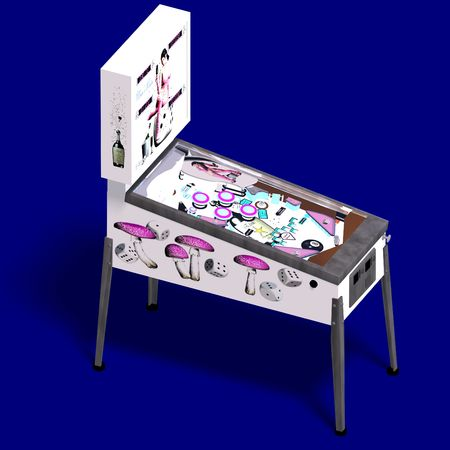 3D rendering of a pinball