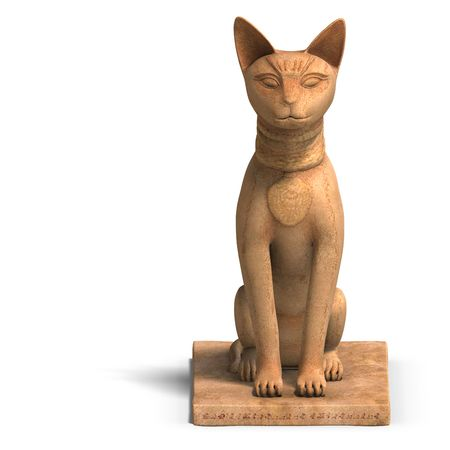 sceptre: rendering of the egyp cat statue