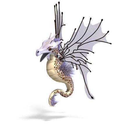 3D rendering of a Faerie Fantasy Dragon photo