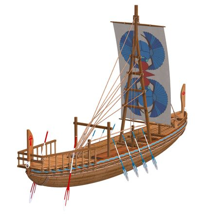 skiff: Egyptian Boat. Stock Photo