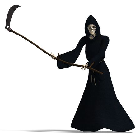 grim: 3D rendering of the deadly reaper
