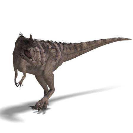devour: 3D rendering of a Dinosaur Ceratosaurus