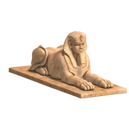 sceptre: rendering of eygpt god statue  Stock Photo