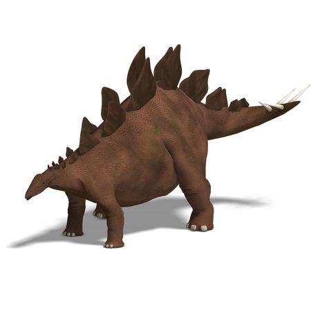 stegosaurus: Dinosaurio Stegosaurus. 3D render