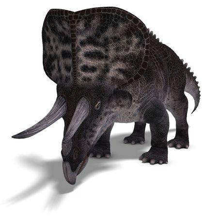 Dinosaur Zuniceratops. 3D render Stock Photo - 5400268