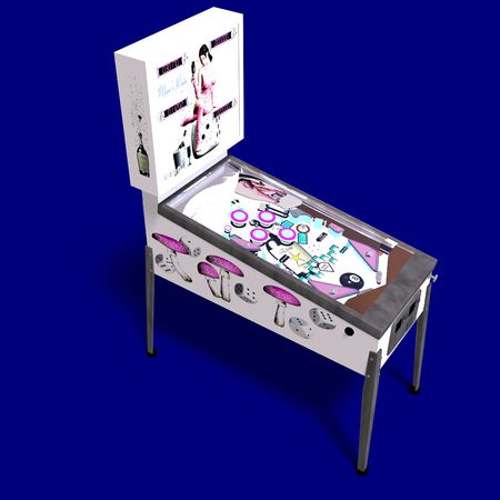 nudging: 3D rendering of a pinball