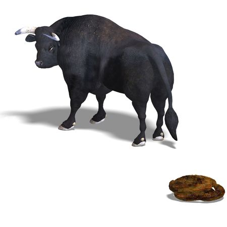 corrida: 3D rendering of a Bull Stock Photo
