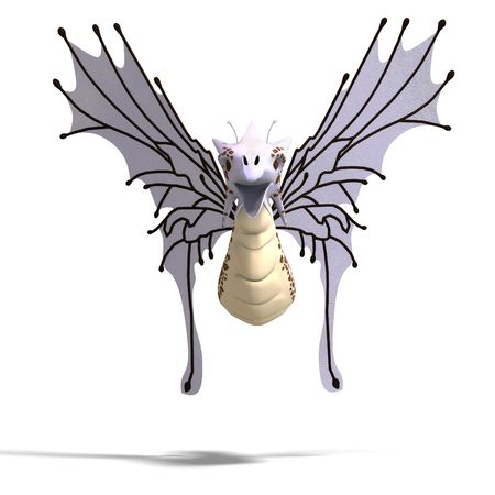 3D rendering of a Faerie Fantasy Dragon