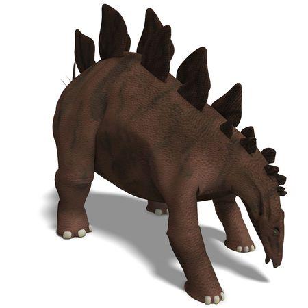 chow: Dinosaur Stegosaurus. 3D render