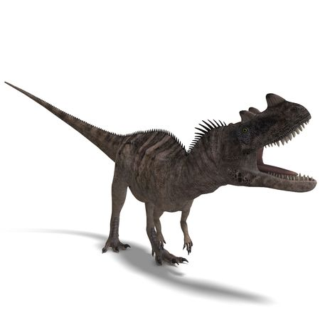 assail: 3D rendering of a Dinosaur Ceratosaurus