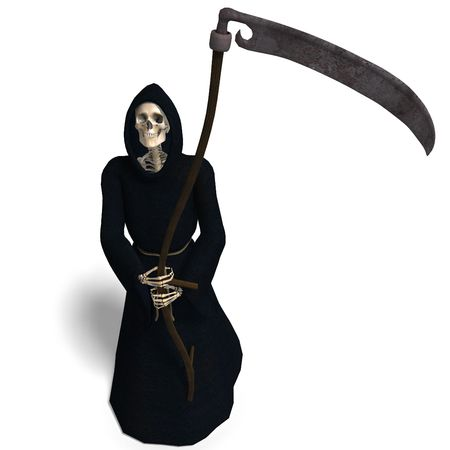 fade away: 3D rendering of the Reaper mortale Archivio Fotografico